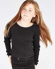 T-shirts et débardeurs noir pour fille de 2 à 16 ans en 100% coton, taille 10 - 11 ans