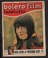 BOLERO 1028/1967 MODUGNO TERZIEFF BARDOT CINQUETTI SANREMO HARDY CLAUDINE AUGER