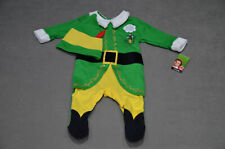 New Baby Buddy Elf Movie Christmas Outfit + Hat 0-3 months Up To 12lb 5.5kg BNWT