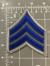 Police Sheriff Security Military Army Sergeant Chevron Patch Sgt Rank Insignia
