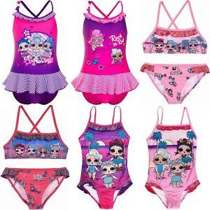 Girls Children LOL Surprise Swimming Costume Bikini Swimsuit 5 6 7 8 9 10 years
