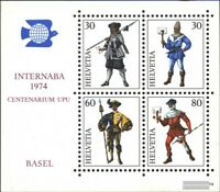 Schweiz Block22 (kompl.Ausg.) gestempelt 1974 INTERNABA