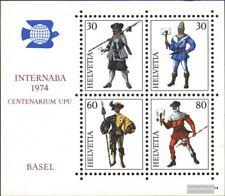 Suisse Bloc 22 (édition complète) oblitéré 1974 internaba
