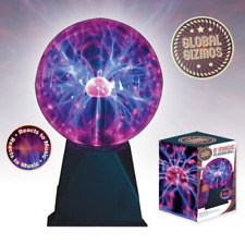 "XLarge 8"" Magic Plasma Ball Globe Light Magic to Touch Effect Sound, Music Resp"