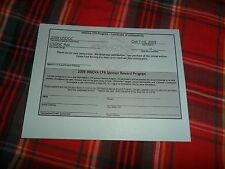 2009 Usdgc Roc Certificate Of Authenticity Paper Form Only ! Disc Golf
