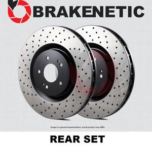 [REAR SET] BRAKENETIC PREMIUM Cross DRILLED Brake Disc Rotors BNP33109.CD