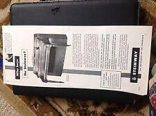 N1-7 Ephemera 1950 advert Steinway piano instrument of the immortals