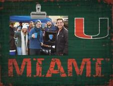 Miami Hurricanes Clip Picture Frame [NEW] NCAA Photo Plaque Sign Wood