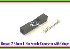 Dupont 2.54mm 1-Pin Jumper Connector Socket x 50 Female Terminal Crimp Pin x 50