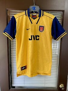 Vintage NIKE Arsenal Gunners FC 1996/1997 Third Kit Soccer Jersey Football RARE
