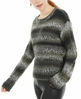 Ultra Flirt Juniors' Ombre-Striped Pullover Sweater Neutral Hue Combo Size: M