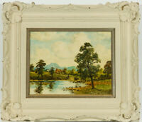 J. Cassell Hutchinson - Signed Mid 20th Century Oil, Figures in a Landscape