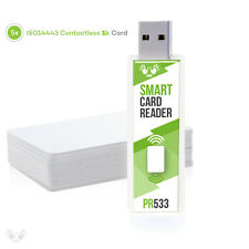 PC/SC RFID Smart Card Reader Writer USB stick DL533R and contactless 1k cards