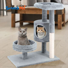 ScratchMe Cat Tree Condo & Hammock Scratching Post Cat Climbing Tower & Perches