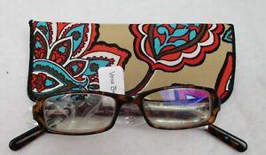 Vera Bradley Monica Reading Glasses Desert Floral Pattern 1.50