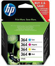 HP 364 Cartouches d'Encre d'Origine Pack de 4 Cyan Magenta Jaune Noir N9J73AE