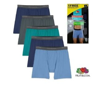 Fruit Of The Loom Men's Breathable Cooling Micro-Mesh Boxer Brief,5 Pack  #3 #12