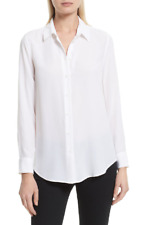 NWT $230  Equipment Essential Bright White Long Sleeve Blouse size:S #2