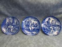 "Set of 3 Professionals by Wedgwood Soldier Farmer Pedlar 4-1/4"" Plates"