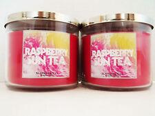 Bath Body Works SLATKIN Co., RASPBERRY SUN TEA, 3-wick Candles 14.5 oz.  NEW x 2