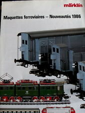 Catalogo Marklin Ferrovie in miniatura novità 1986 - FRA - Tr.5