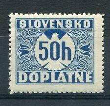 SLOVAQUIE - 1939 timbre taxe 6, oiseau, neuf**