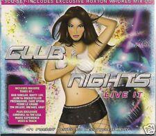 3 CD Bob Sinclar,X-Press 2,David Guetta `Club Nights Live It` Neu/New Clubsound