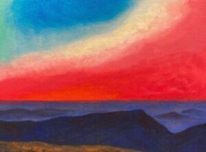 Modern Contemporary Color Field Southwest Art Santa Fe Oil Painting Landscape