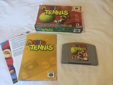 Mario Tennis (Nintendo 64, 2004) N64 Complete CIB Cartridge, Box & Manual