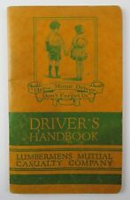 Driver's Handbook Lumbermens Mutual Casualty Company 1934 Accident Report Forms