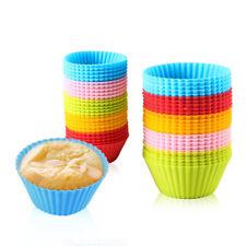 Reino Unido de silicona magdalena taza molde hornear muffin casos Reutilizable Cake Mold Bandeja Herramienta