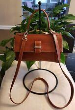 Furla vintage light brown pebbled leather crossbody bag handbag