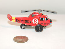 Toy Emergency Rescue FDP Helicopter Made in Japan over 3 inches long (11372)
