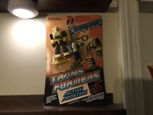 Transformers Action Master Bumblebee MOSC new sealed 1990 G1 Vintage Hasbro