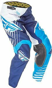 NOS FLY RACING 369-53136 KINETIC VECTOR PANTS BLUE / WHITE / NAVY MENS SIZE 36