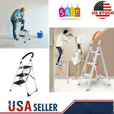 2/3 Step Ladder Folding Stepladder Aluminum Step Stool Ladder Multi-Use Ladder