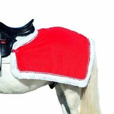 Horze Spirit Christmas Riding Quarter Sheet - Red with Sparkly Silver Trim