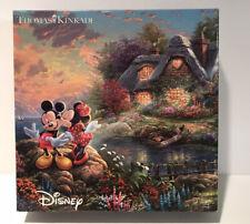 Disney Thomas Kinkade Mickey & Minnie Sweetheart Cove - 750 Pieces Puzzle EUC