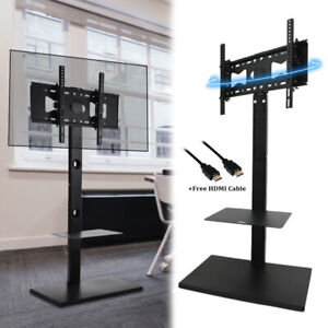 """Universal Swivel Floor TV Stand with Mount Height Adjustable for Most 32 -65"""" TV"""