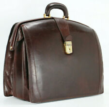 BOSCA Italy Vintage Leather Briefcase Doctor Attorney Bag