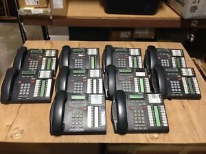 NORTEL T7316 Charcoal Gray LCD Telephone USED Lot of 10