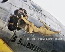 USAAF WW2 B-17 $5 with Breakfast 8x10 Color Nose Art Photo 490th BG RAF Eye WWII