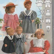 "Burda doll clothes pattern UNcut Sz 12""-22"" Middy Sailor dress Pinafore Bloomers"