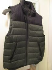 NWT Never Worn Coach Down Puffer Vest, size S, Green & Black w/ Hood, Orig $295