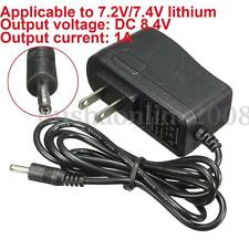 7.4V 7.2V Rechargeable Li-ion LiPo Lithium Batterie Chargeur Adaptateur 8.4V 1A