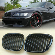 Gloss Black Kidney Hood Grilles Grill For BMW Z3 1996-2002 Convertible Coupe