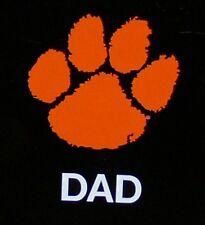 """CLEMSON TIGERS ORANGE PAW DAD DECAL STICKER 4"""" X 5"""""""