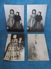 Set Of 4 New Vintage Black & White Antique Doll Pictured Note Cards