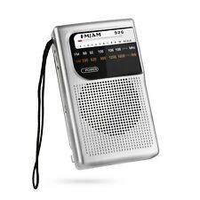 AM FM Radio, Battery Operated Radio, Portable Pocket Radio with Best Reception