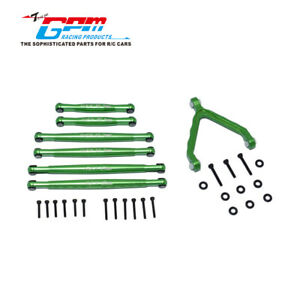 GPM Alloy CNC Tie Rod + Front Suspension Arm Support for AXIAL 1/24 4WD SCX24